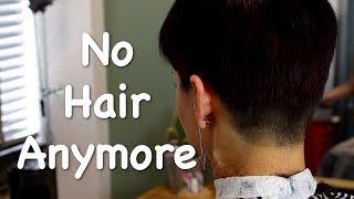 Oh my god, no hair anymore!