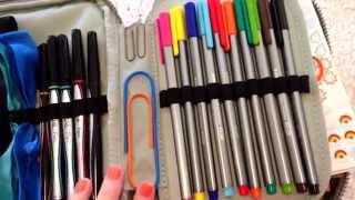 How I organize my Erin Condren planner supplies using my Kipling 100 Pens Case