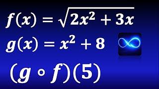 Composición de funciones (Método fácil) gof(5)
