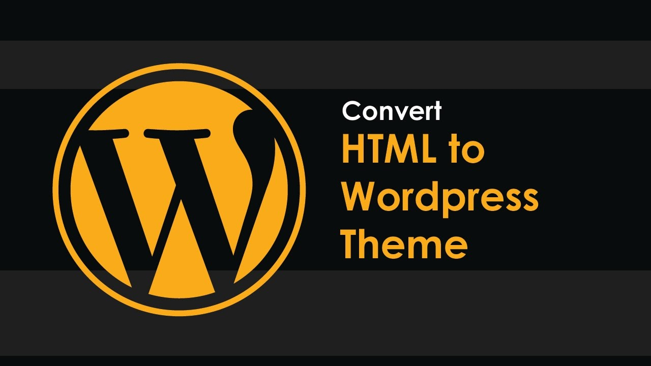 Convert html to wordpress theme part 1 youtube for Convert html template to wordpress theme online