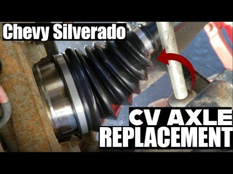 How to replace CV Axle Chevy Silverado 00-06