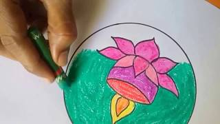 How to Draw Diwali Diya, Easy Diwali Lamp drawing for kids