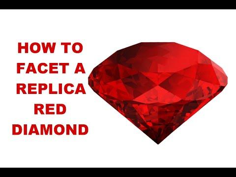 How To Facet A Replica Red Diamond