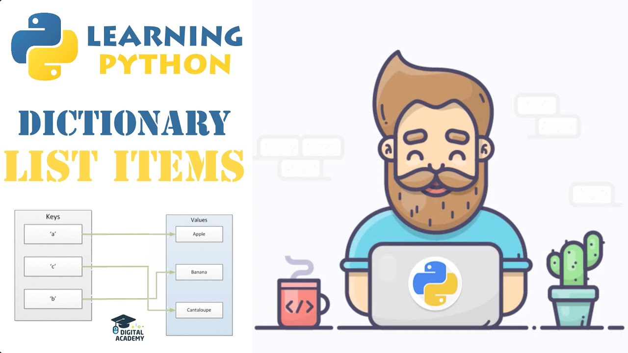 List Items from a Dictionary in Python (Keys, Values, Items)
