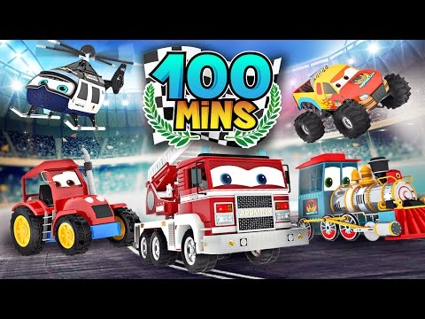 appMink Makes Fire Truck & Tractor  Monster Truck Number Counting  appMink Playlist 100mins