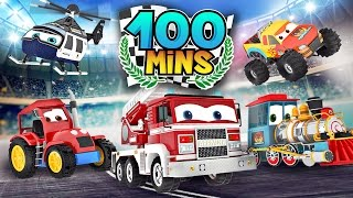 appMink Makes Fire Truck & Tractor | Monster Truck Number Counting - appMink Playlist 100mins