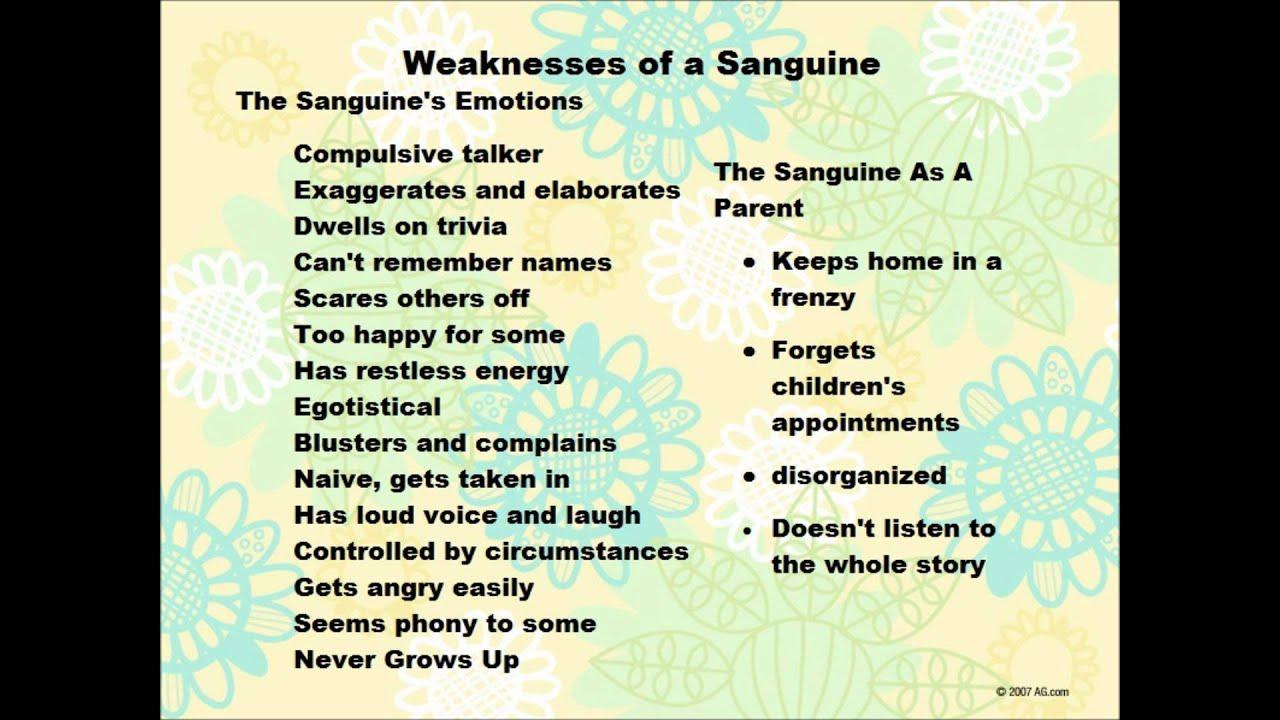 Who is sanguine