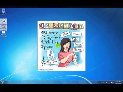 How To Use MP3 Remove ID3 Tags From Multiple Files Software