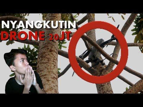 NYANGKUTIN DRONE HARGA 22JT KE POHON !!