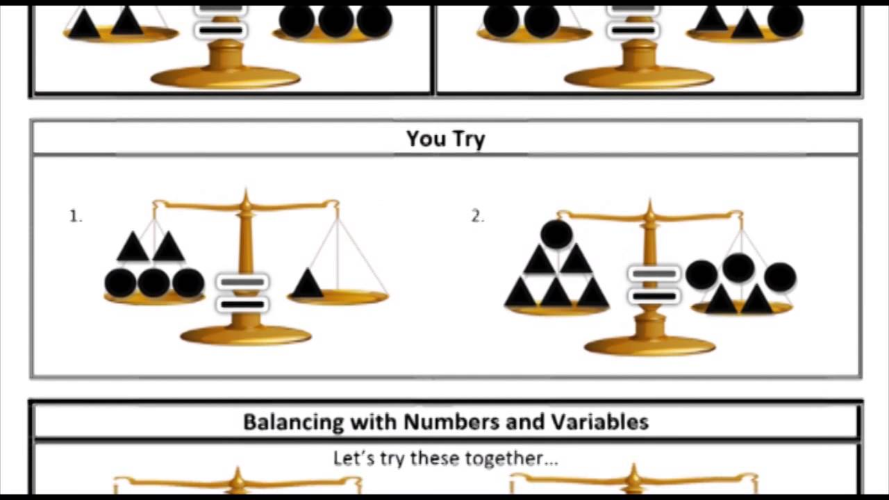 9.1: Balancing Equations with Addition/Subtraction - YouTube [ 720 x 1280 Pixel ]