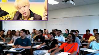 English Class at Georgia Tech REACTS to BTS (방탄소년단)