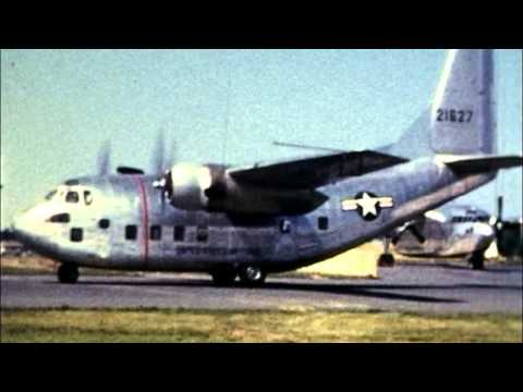 U.S. Airforce Demonstration of a Fairchild C-123 &  Fairchild C-119 Flying Boxcar Aircraft