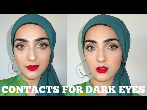 Coloured Contact Lens For Dark Eyes | Super Natural Looking (Solotica) ~ Immy