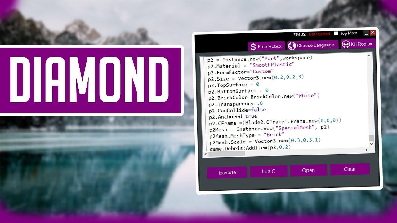Diamond Op Roblox Hack Exploit Script Executor Youtube