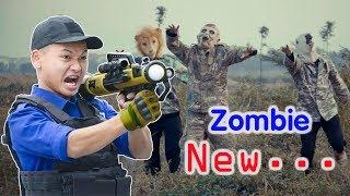 Battle Nerf War : Blue Police Nerf Guns / Zombie / Monster