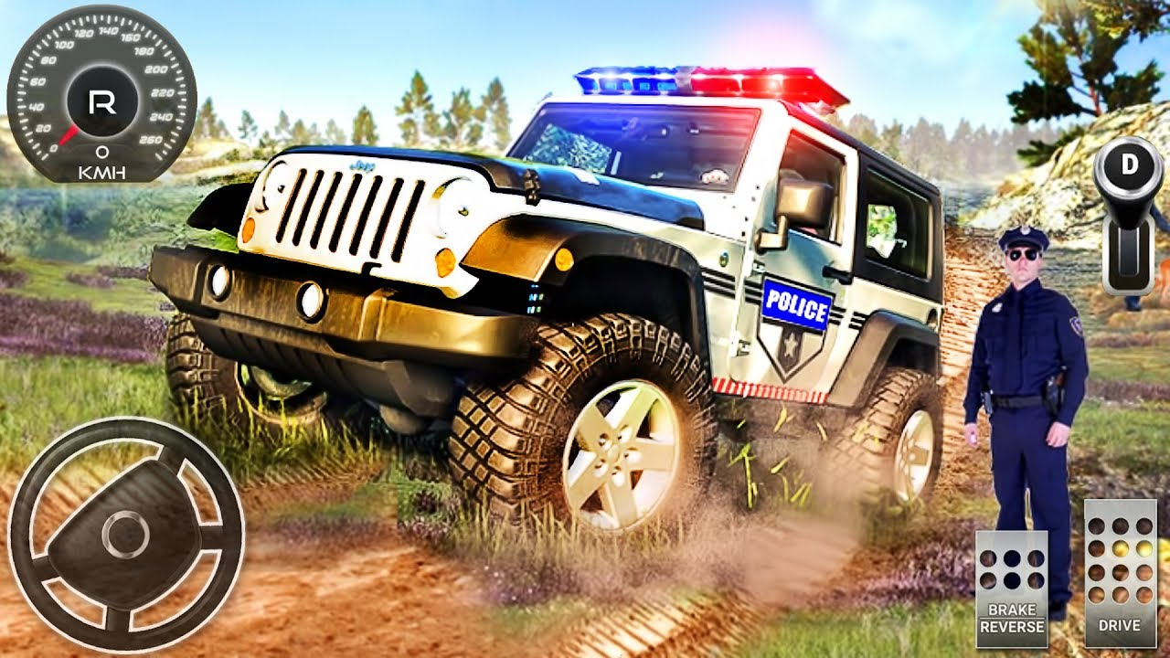 Offroad Police Jeep Driving Simulator Police Car Drive Android Gameplay Youtube