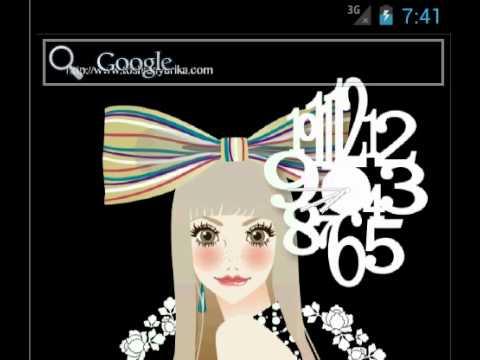 おしゃれでかわいい女の子ライブ壁紙2時計 Google Play のアプリ