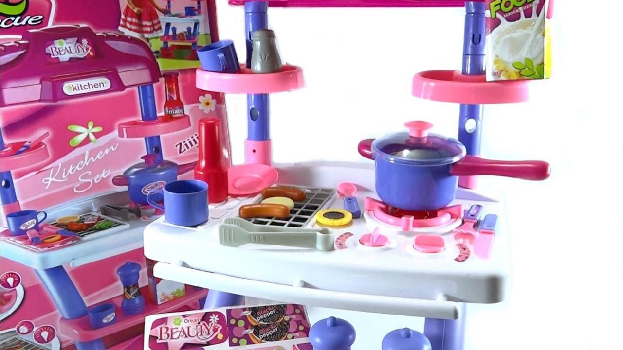 Cocina para ni as de juguete parrilla bbq con luces y for Cocina de juguete