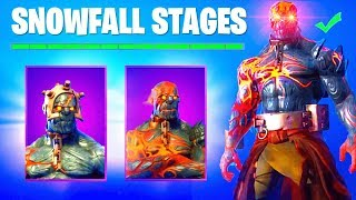 SECRET SNOWFALL SKIN STAGES REVEALED! - STAGE 2, STAGE 3, STAGE 4 (Stage 2 Keys Location Fortnite)