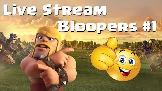Clash of Clans: LIVE STREAM BLOOPERS #1 (Try Not To Laugh) | Mister Clash Gaming
