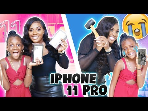 destroying-yaya's-iphone-and-getting-her-a-new-iphone-11-pro