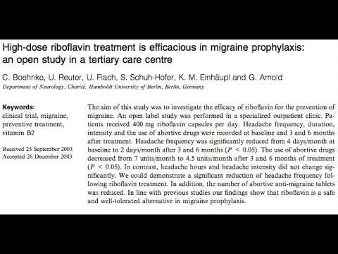 Migraines and Riboflavin