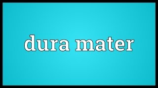 Dura mater Meaning