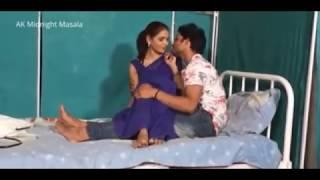 Hindi Lady doctor Shruti bhabhi romance with patient boy in blue saree hot scene