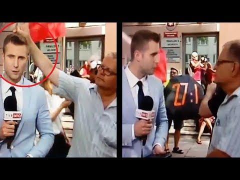 Dziennikarz TVP Info ustawia do pionu agresywnego zwolennika Tuska