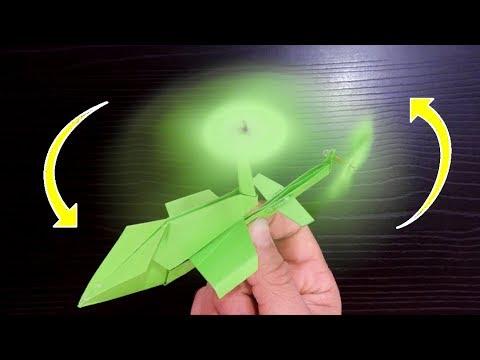 Como Hacer Un Helicóptero De Papel Que Vuela Mucho Y Alto Youtube