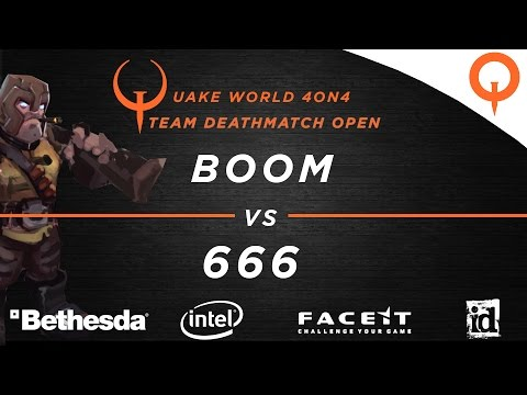 BOOM vs 666 - QuakeWorld 4vs4 (QuakeCon 2016)