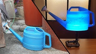 버려진 물뿌리개를 DIY LED 조명으로 만들기