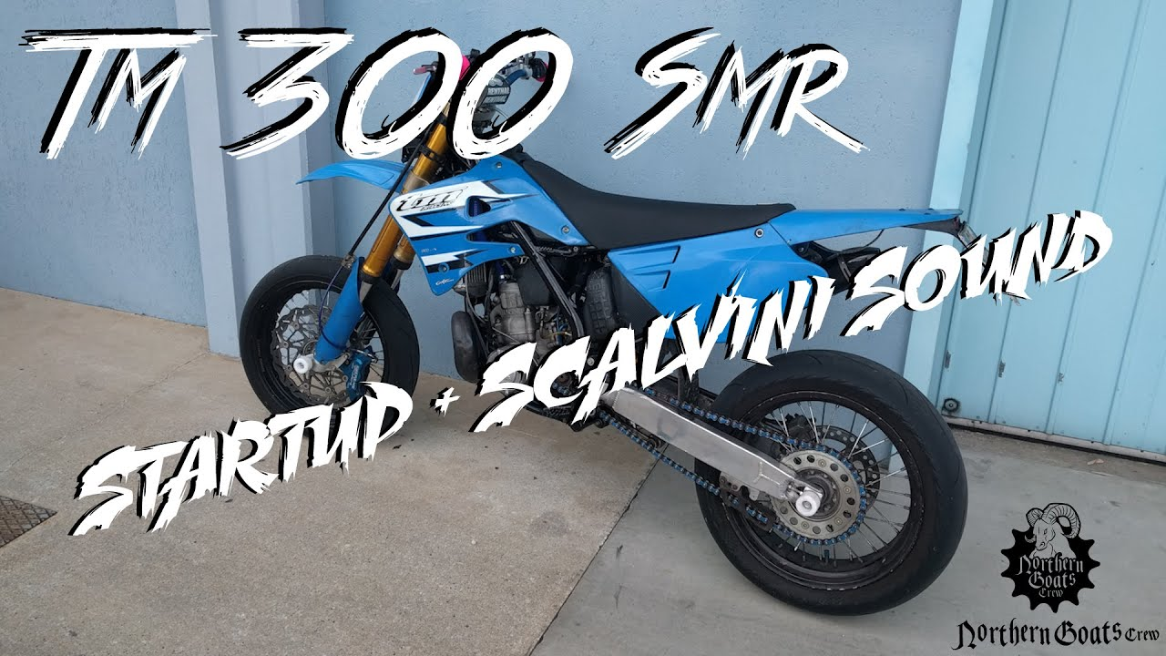 Tm 300 2t smr Scalvini exhaust | Startup + Sound