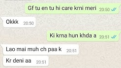 Punjabi GF BF Hot late Night conversation | Couple whatsapp Night chatting | Indian gf bf Chatting |