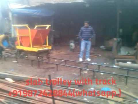 slab trolley with track for transport concrete mixture