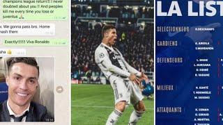 Evra dévoile sa discussion avec Ronaldo sur Watsapp, la liste de deschamps,sanction Ronaldo ?