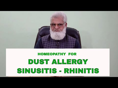 Homeopathic Medicine for Allergy Rhinitis Sinusitis and Asthma Treatment