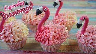 Cupcakes PINK VELVET Flamingos / Flamencos / MODELADO FLAMENCO/ El Rincón de Belén
