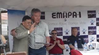 Inauguración de obras de Agua Potable y Alcantarillado para la Asociación Juan de Dios Sánchez.