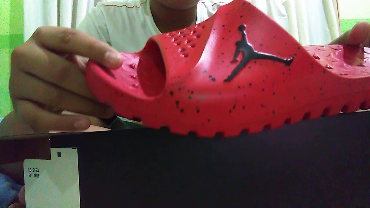 b5790026614be9 Jordan super fly team slide university red - YouTube