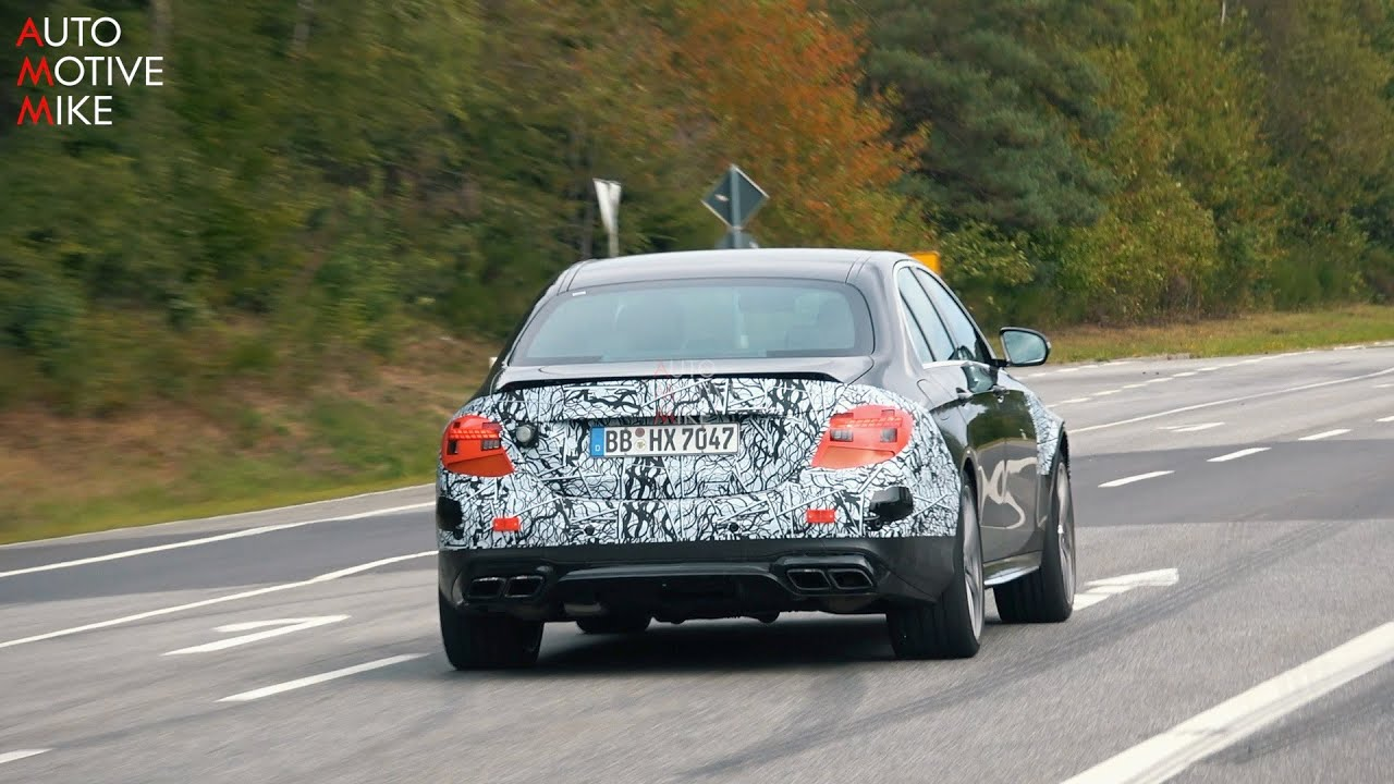 2021 mercedes-amg e63 sedan  u0026 wagon spied testing at the n u00dcrburgring
