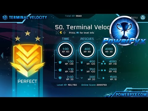 Velocity 2X - Perfect Medal Walkthrough Level 41-50 (FuturLab Certified Trophy Guide)
