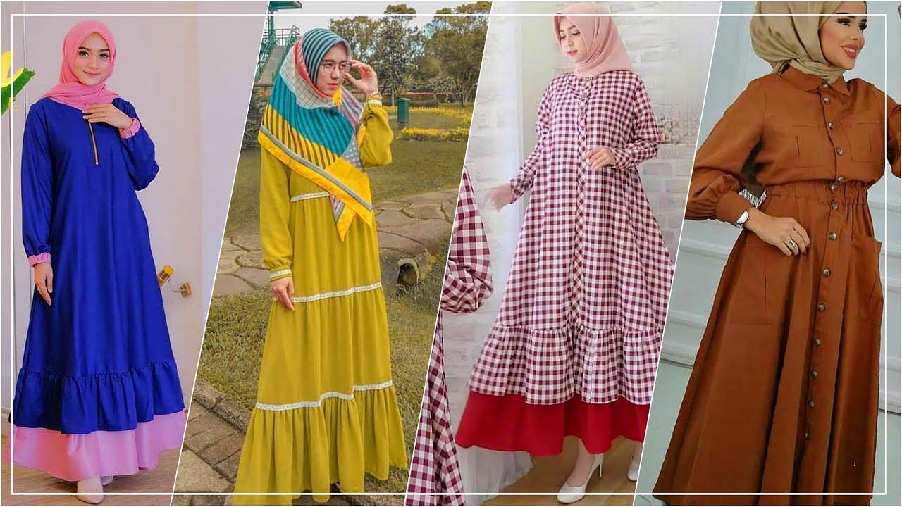 Model Baju Gamis Terbaru 8 Modern, Simple, Elegan dan Mewah Cocok Juga  Untuk Remaja [TRY ON]