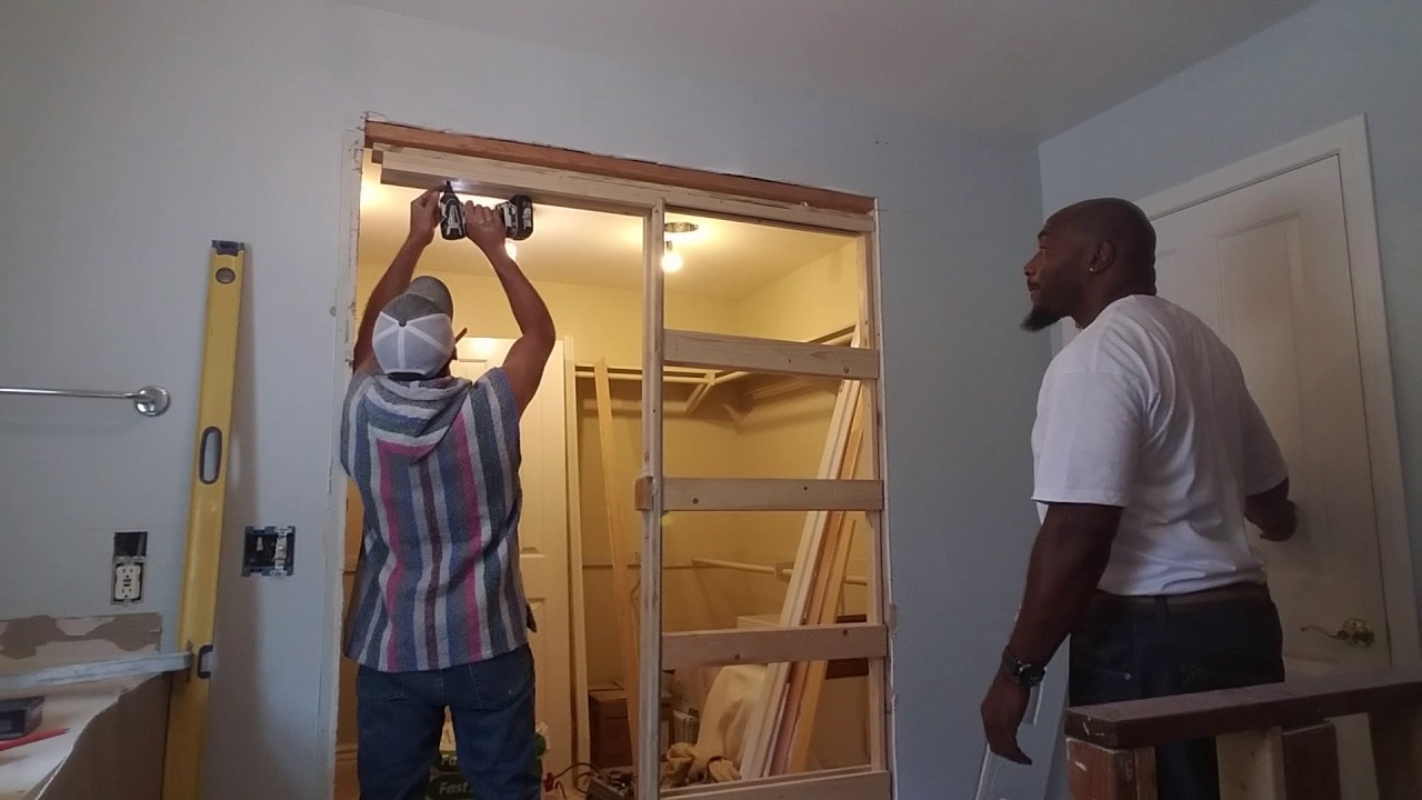 Installing A Pocket Door Frame Youtube