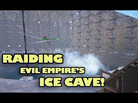 Raiding Evil Empire's Ice Cave! [Part #1] | ARK Official Server