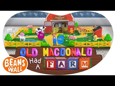 Old MacDonald Had a Farm | Kids Songs | Beans in the Wall