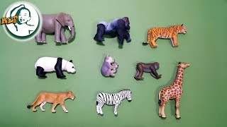 Learn names of zoo animals and animal sounds for kid with TOMY Ania Animal 2015 part 1  |アニア アニマルだ