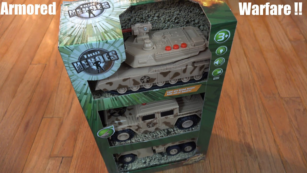 Toys for Kids True Heroes Military Armored Tank Jeep and Truck