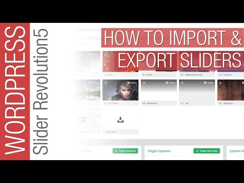 How To Import & Export Slider Revolution 5 Sliders - 동영상