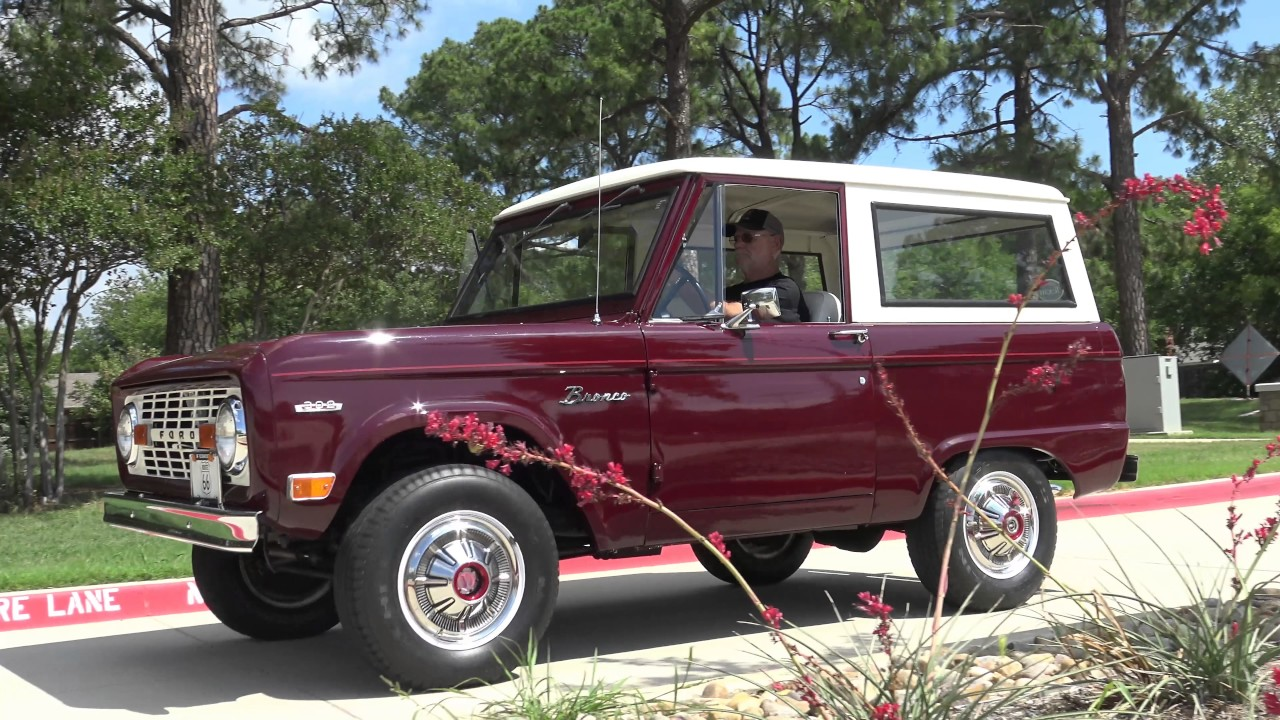 1969 Ford Bronco 4x4 Classic SUV Road Test in 4K - YouTube